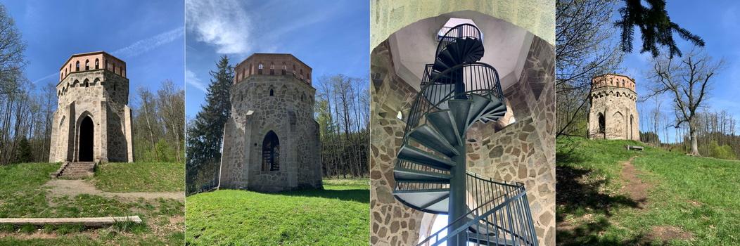 Zrekonstruovaná Alainova věž, která byla honosným posedem, byla naším prvním odpočinkovým místem.