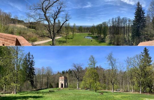 Výhled z a na Alainovu věž - krásné místo na posezení a doplnění energie.