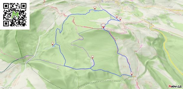 Mapa našeho výletu Českým rájem