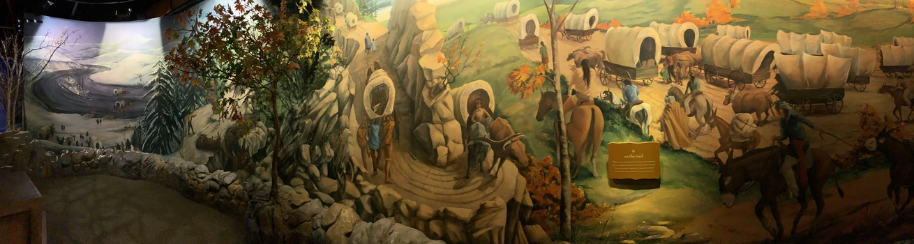 Každé diorama je v muzeu nádherně zpracované. Zde je vidět cesta indiánů napříč ročním obdobím