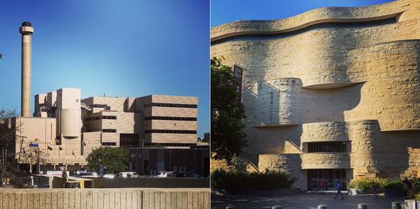 Vlevo moderní spalovna, vpravo pak muzeum amerických indiánů. Najděte deset rozdílů...