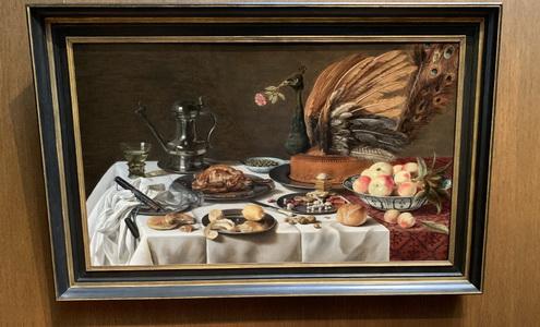 Zátiší s pávím koláčem byl jeden z mnoha obrazů, který jsme v muzeu shlédli