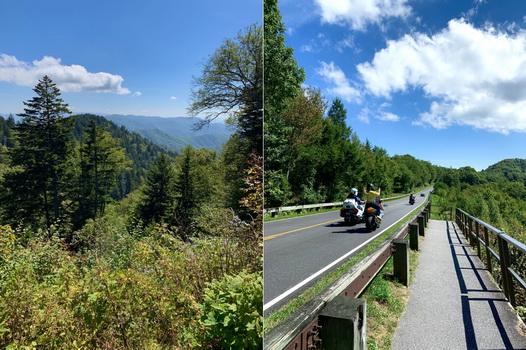 Někteří akčnější turisté si fotili panoramata i z jedoucího motocyklu, asi jinej gang
