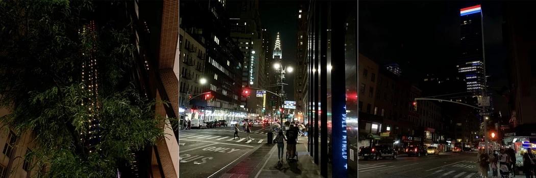 Po 2h v městské dopravě byl NY najednou úplně jiný. Tmavé ulice a blikající avenue nás provázely cestou zpět do hotelu.