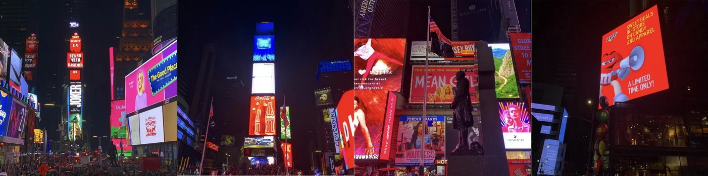 Pokud hledáte místo, kde bude v noci jako ve dne, tak Times Square je jasnou volbou!