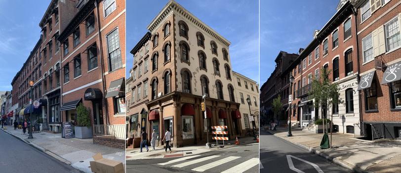 Cihlová architektura Philly velice sluší... Oproti NY zde lidé odpadky na ulici tolik nehází nebo zrovna jeli popeláři