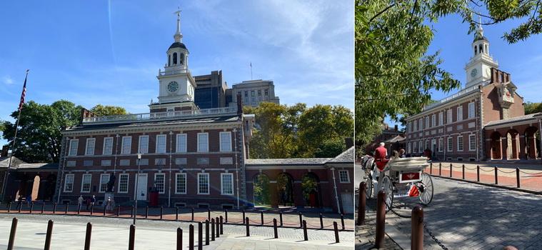 Independence Hall - Překrásná budova z pálených cihel, ve které byla přijata Deklarace nezávislosti
