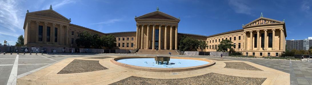 Muzeum umění ve Philly - právě sem vždy vybíhal Rocky Balboa