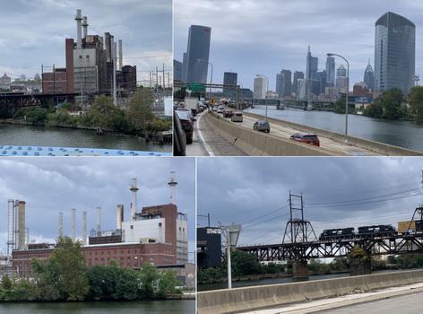 Cestou do ubytování jsme projížděli industriální částí Philly