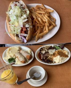 Oběd v rodinném podniku Penrose Dinner. Posuďte sami, kdo měl nejlepší pokrm...