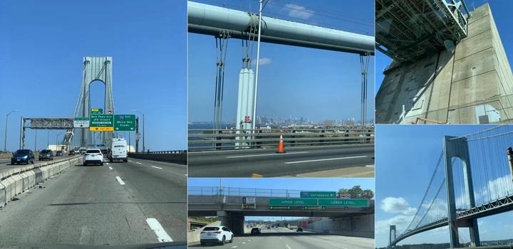 Obří dvoupatrový most Verrazano-Narrows Bridge spojující Staten Island a Brooklyn je jeden z mostů, který si v NY nechcete nechat ujít...