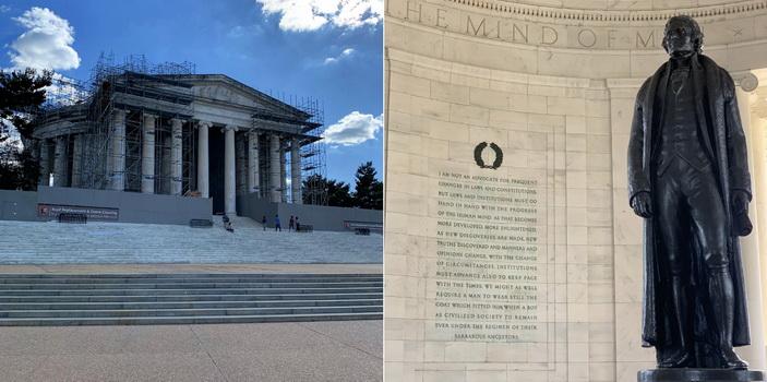 Do sbírky prezidentů nám nesměl chybět ani Thomas Jefferson a jeho památník