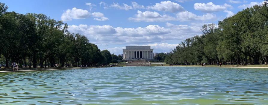 Známý to bazének před památníkem prezidenta Lincolna