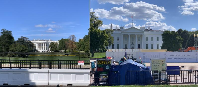 Notoricky známá bílá stavba, kde sídlí američtí prezidenti. Měli jsme to štěstí, že jsme si Bílý dům mohli prohlédnout relativně zblízka