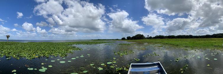 Překrásné jezero Kissimmee jsme propluli křížem krážem
