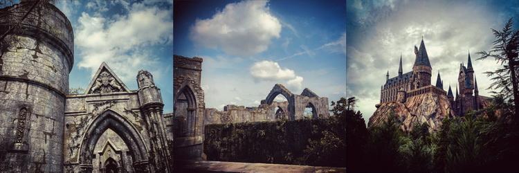 Na Hagridovy motorky za 300 miliónů USD se nakonec čekat vyplatilo, za námi se tyčil do vzduchu občí Bradavický hrad