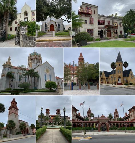 Přehlídka místní pompézní architektury v čele s mnoha kostely