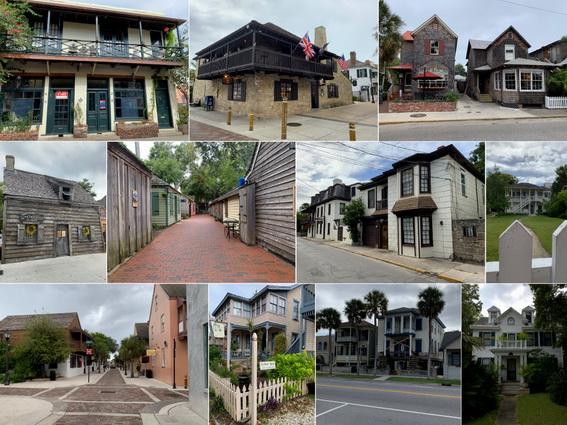 Old Town - v různorodých stavbách naleznete například nejstarší školu (prostřední řada vlevo)