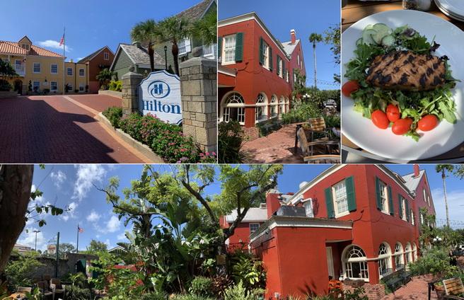 Cesta na oběd vedla kolem malého Hiltonu a byla zakončena v útulné restauraci U Harryho
