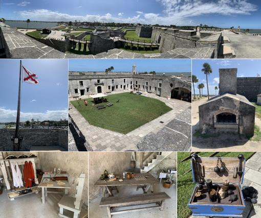 Pevnost Castillo de San Marcos - její útroby a okolí
